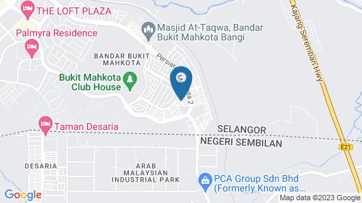 Kenanga Homestay Bukit Mahkota Map