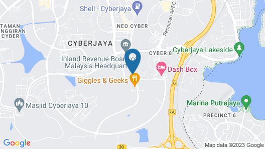 8500SF Rooftop Pool & Gym at Cyberjaya Map
