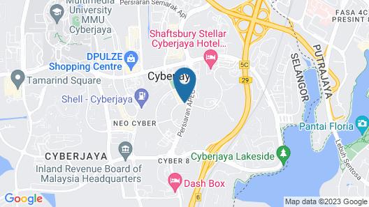 Cyberjaya Cybersquare Soho Suites Map