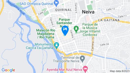 Hotel Neiva Plaza Map