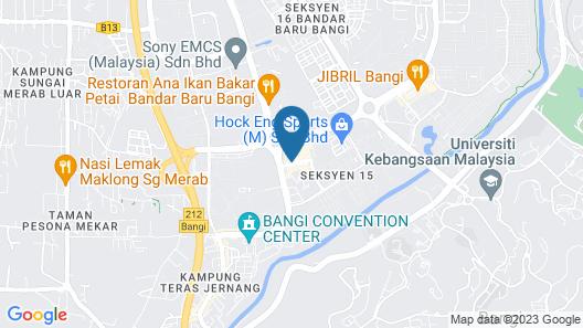 Bangi Perdana Hotel Map