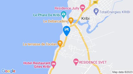Les Gîtes de Kribi Map