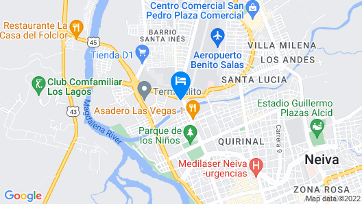 Hosteria Los Dujos Map