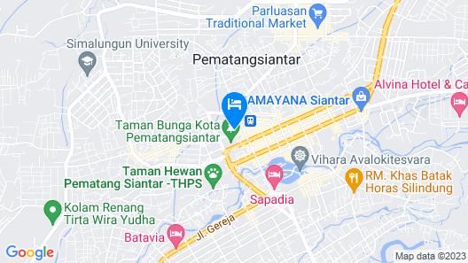 Siantar Hotel Pematangsiantar Map