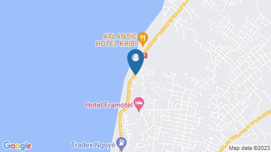 Hotel Framotel Kribi Map