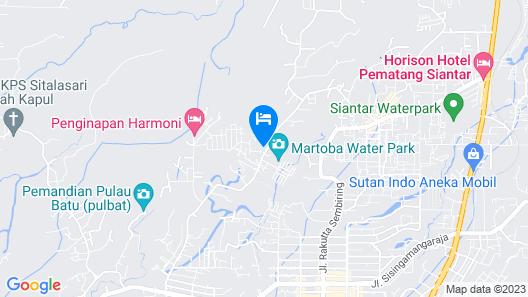 Sriwijaya Hotel Siantar Map