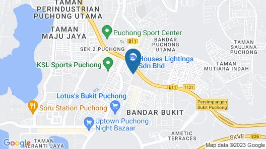 Sun Inns Hotel Bandar Puchong Utama Map