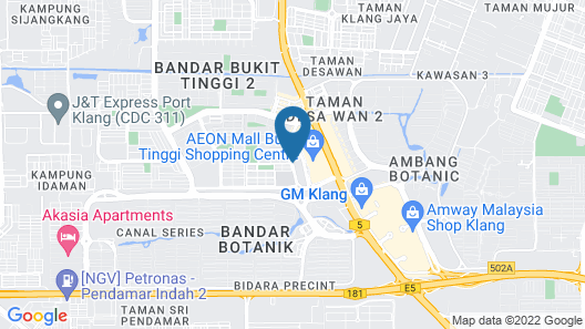The Canvas Hotel Map