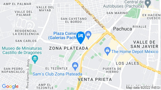 Camino Real Pachuca Map