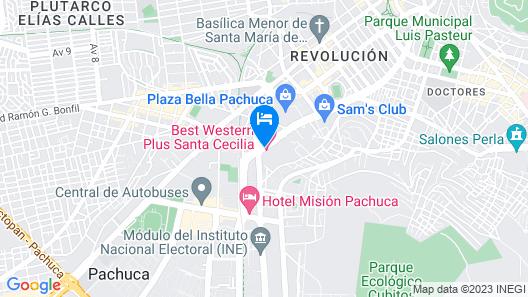 Best Western Plus Santa Cecilia Pachuca Map