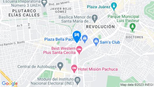 Quality Inn Pachuca Map