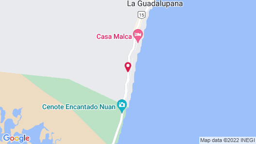 Cormoran Boutique Hotel & Cenote Tulum Map
