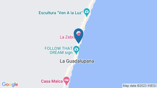 Playa Canek Beachfront Eco Hotel Map