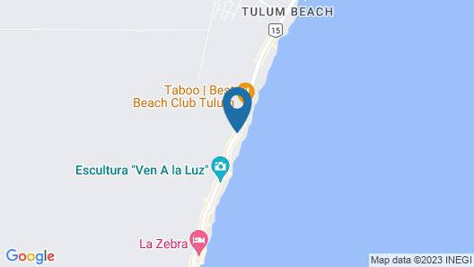 The Beach Tulum Map