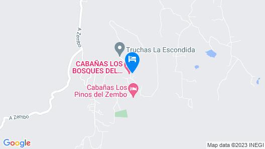Los Bosques del Zembo Cabañas Map