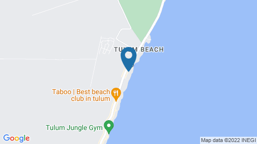 Coco Tulum Zen Zone Hotel Map