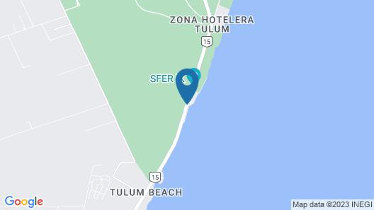 Posada del Sol Tulum Map