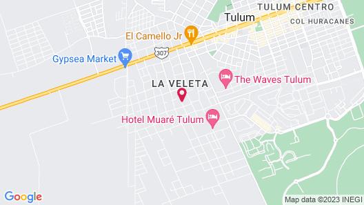 Los Amigos Tulum Map