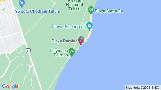 El Paraiso Hotel Tulum Map