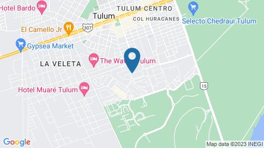 Copal Tulum Hotel Map