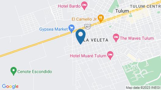 Era Hotel & SPA Tulum Map