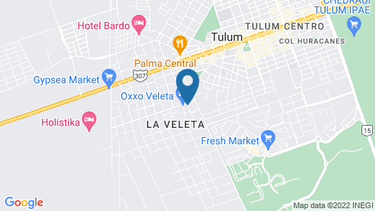 Intima Resort Tulum - Clothing Optional - Adults Only Map