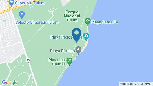 Ikal Hotel Tulum Map