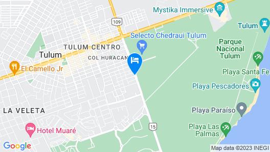 Tubo Tulum Hostel Map