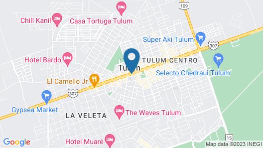 Hotel CARPE DIEM Tulum by Nah Hotels Map