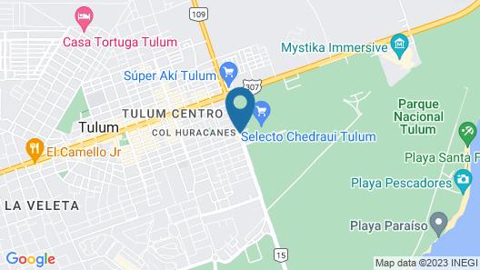 Hotel Blanco Tulum Map