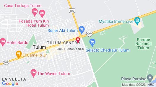 Kaab Tulum Map