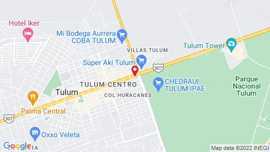 Palms Tulum Luxury Hotel Map