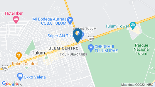 Palms Tulum Condo  Map