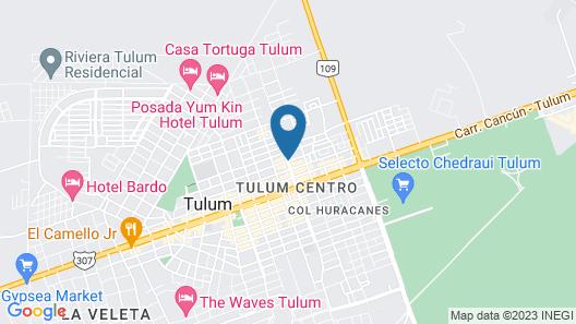 Azura Tulum Map