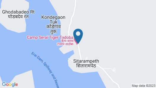 Camp Serai Tiger Tadoba Map