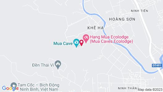 Tam Coc Little River Bungalow Map