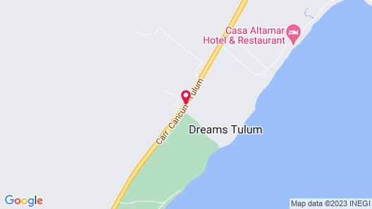 Dreams Tulum Resort & Spa - All Inclusive Map