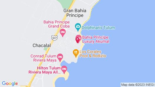 Bahia Principe Luxury Akumal - All Inclusive Map