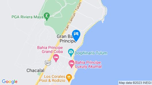 Bahia Principe Grand Tulum - Newly Renovated Map