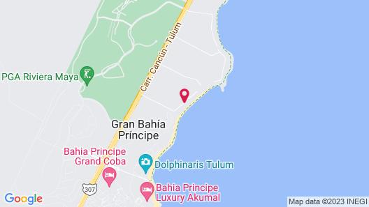Villas De Rosa Beach Resort Map