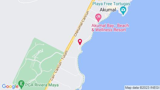 Las Villas Akumal Map
