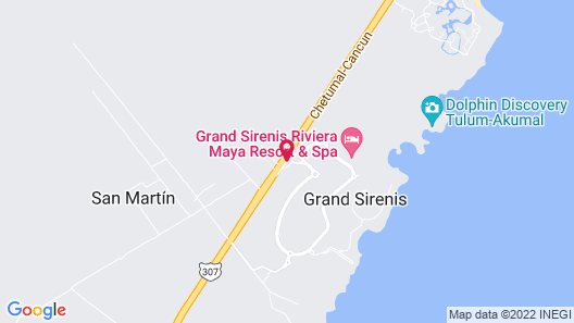 Grand Sirenis Riviera Maya Resort & Spa - All Inclusive Map