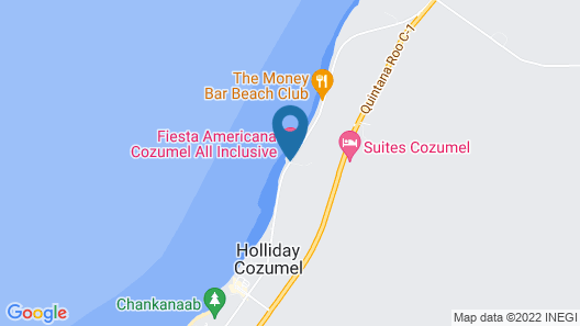 Fiesta Americana Cozumel - All Inclusive Map