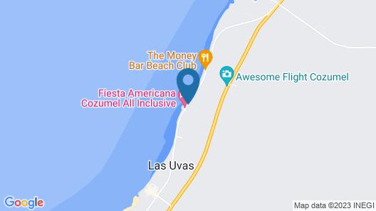 The Explorean Cozumel - All Inclusive Map