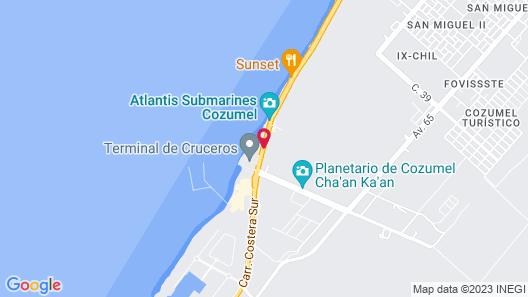 El Cid La Ceiba Beach All Inclusive Map