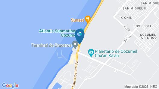 El Cid La Ceiba Beach Map