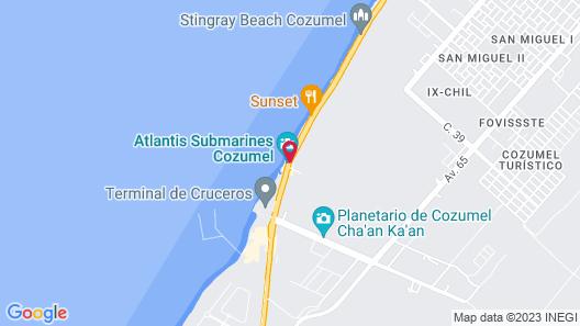 Casa del Mar Cozumel Hotel & Dive Resort Map