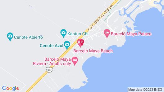 Barceló Maya Beach - All Inclusive Map