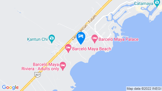 Barceló Maya Colonial - All Inclusive Map