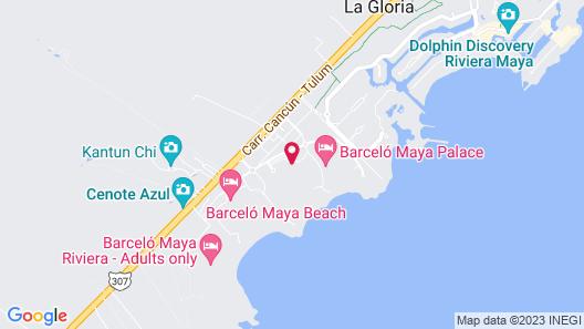 Barceló Maya Tropical - All Inclusive Map